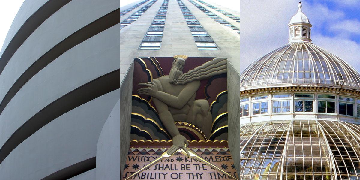 Rockefeller Center - Guggenheim - NY Botanical Garden