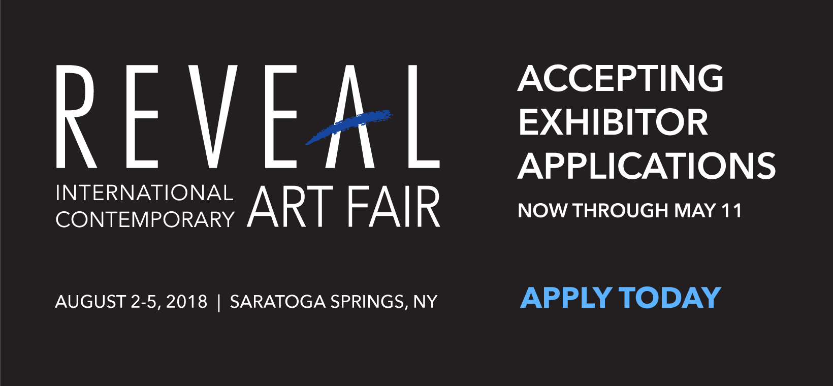 Accepting Exhibitor Applications Thru May 11
