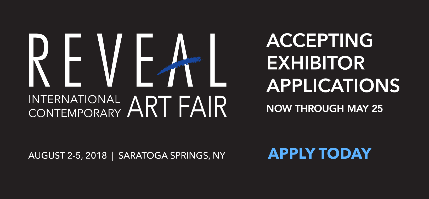 Accepting Exhibitor Applications Thru May 25