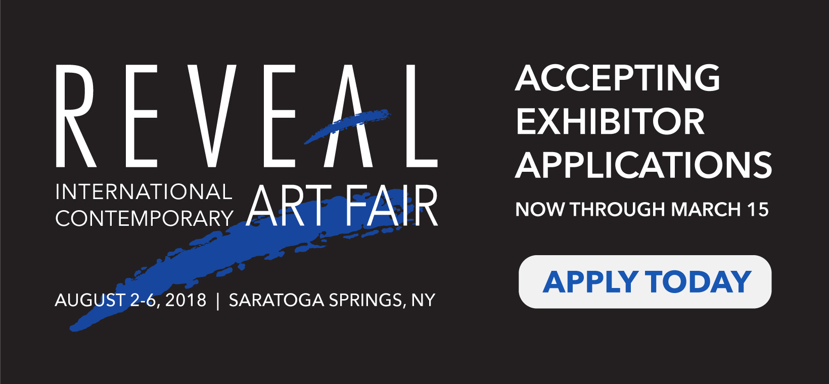 Apply today for 2018 REVEAL Art Fair