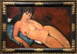 """""""Nude on a Blue Cushion"""""""
